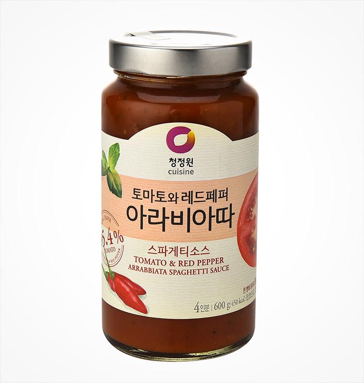 [슈퍼마트] 청정원 토마토와 레드페퍼 아라비아따 스파게티소스 600g (4인분)