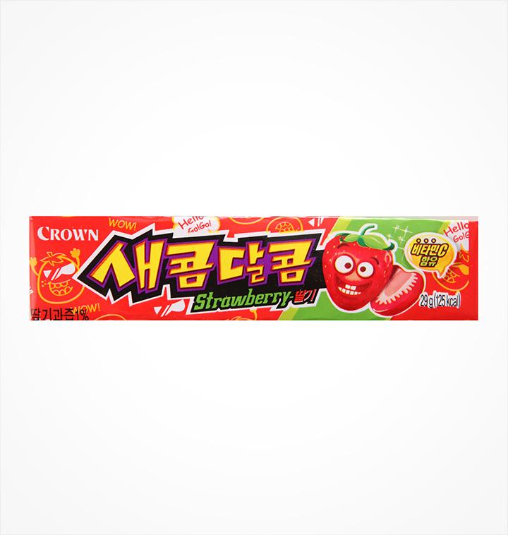 [슈퍼마트] 크라운 새콤달콤 딸기 29g
