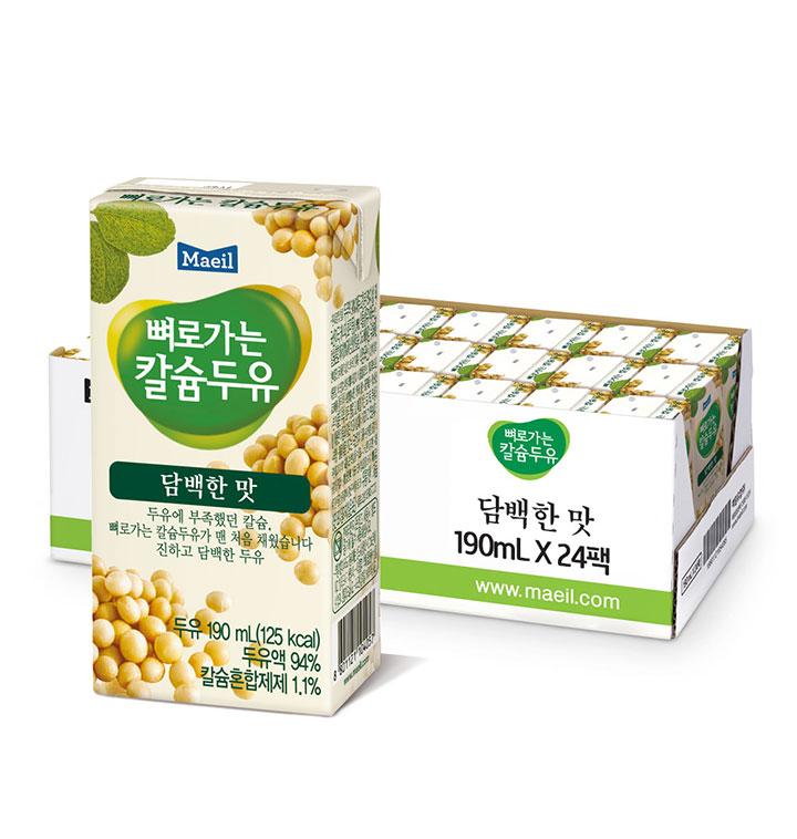 [슈퍼마트] 매일유업 뼈로가는칼슘두유 담백한맛 190ml*24팩