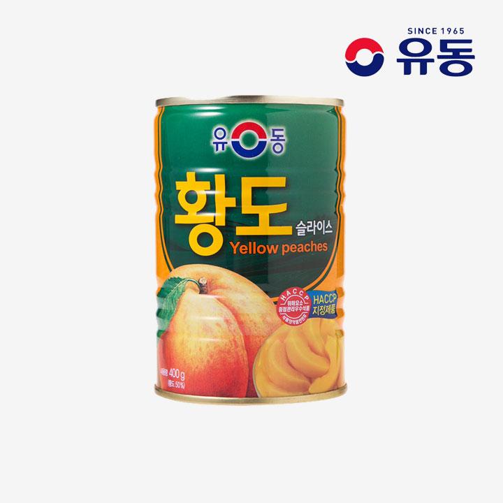 [슈퍼마트] 유동 황도슬라이스 400g