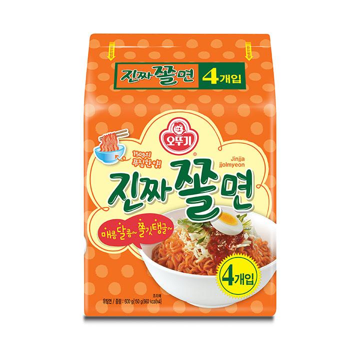 [슈퍼마트] 오뚜기 진짜쫄면 멀티 150g *4개