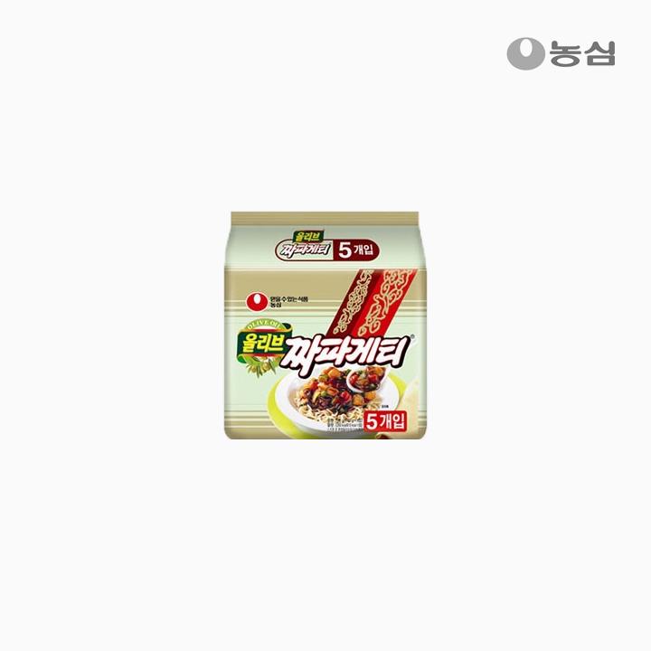 [슈퍼마트] 농심 올리브 짜파게티 140g*5입
