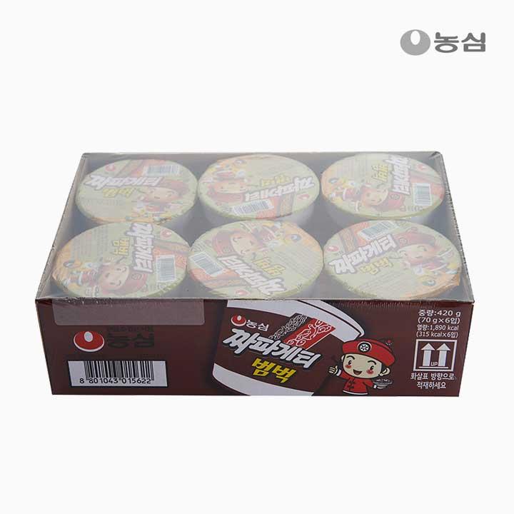 [슈퍼마트] 농심 짜파게티범벅 6입 (소컵)