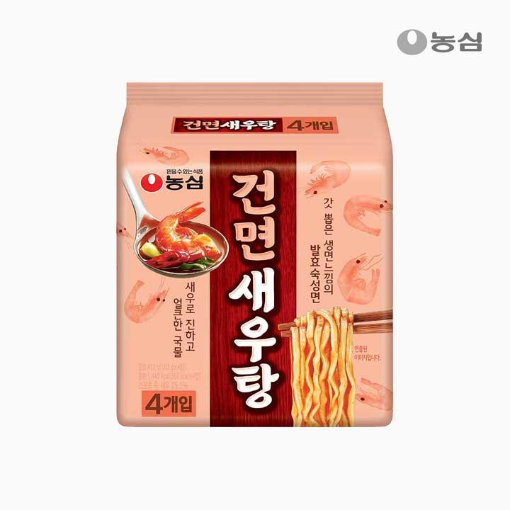 [슈퍼마트] 농심 건면새우탕4입